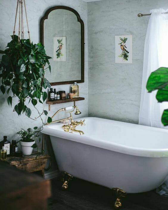 rośliny w łazience inspiracje