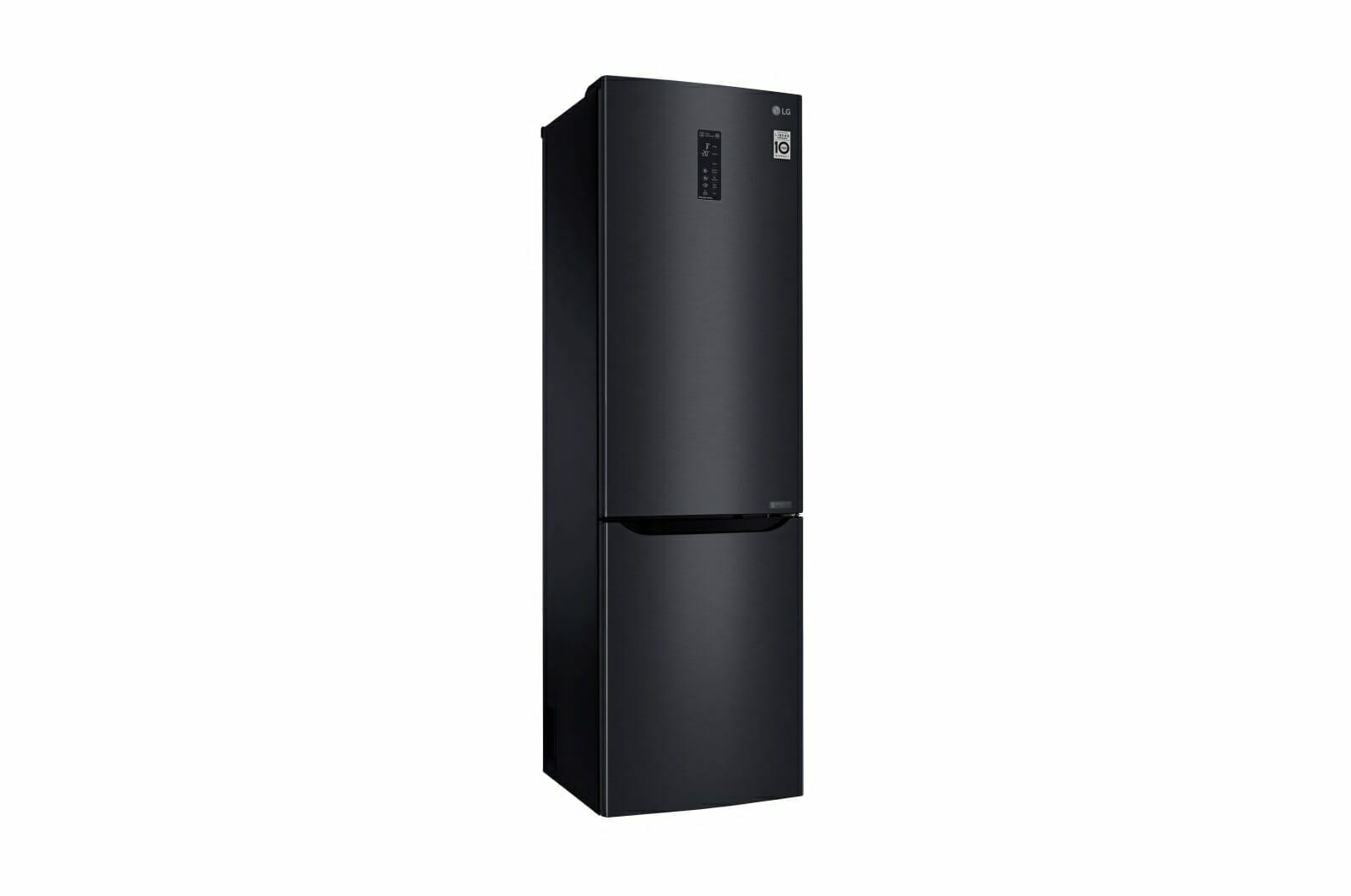 czarna lodówka LG