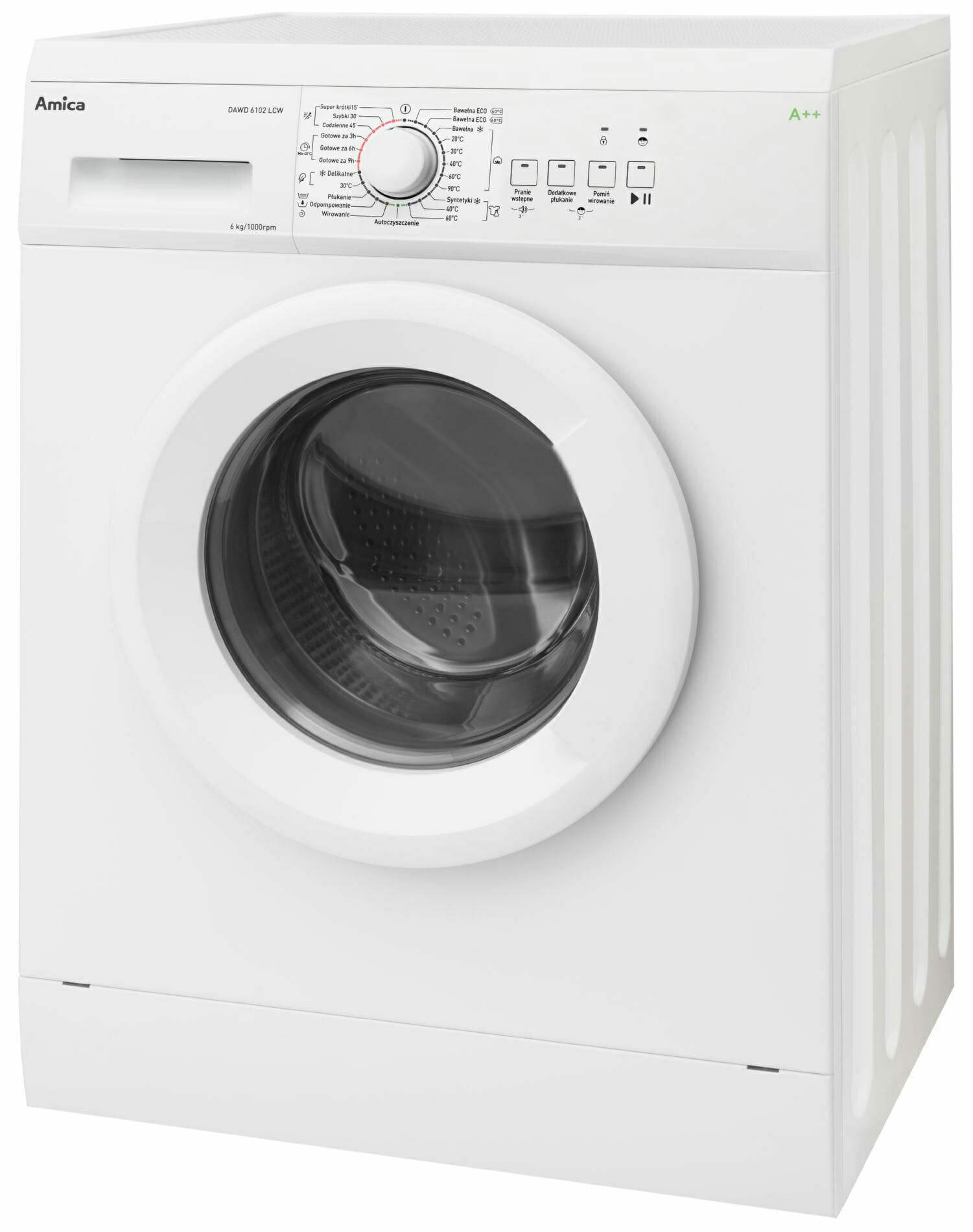 Amica DAWD6102LCW jaka pralka do 1000zł