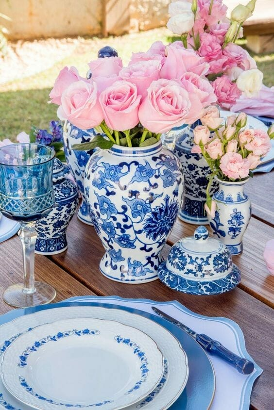 styl chinoiserie porcelana
