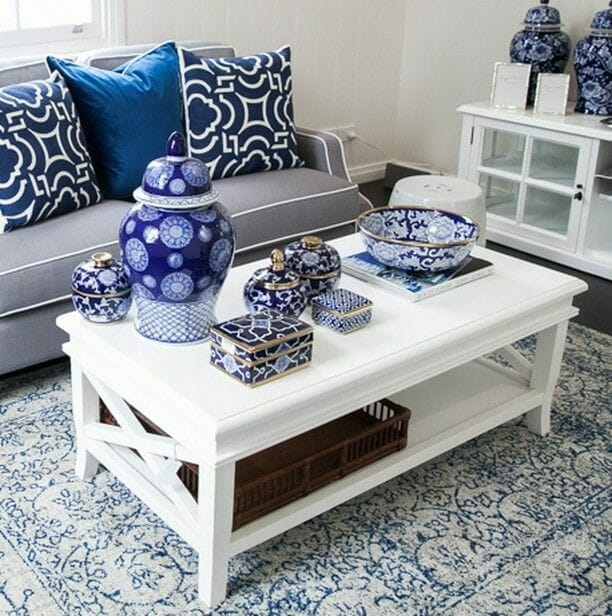ceramika niebieska styl chinoserie