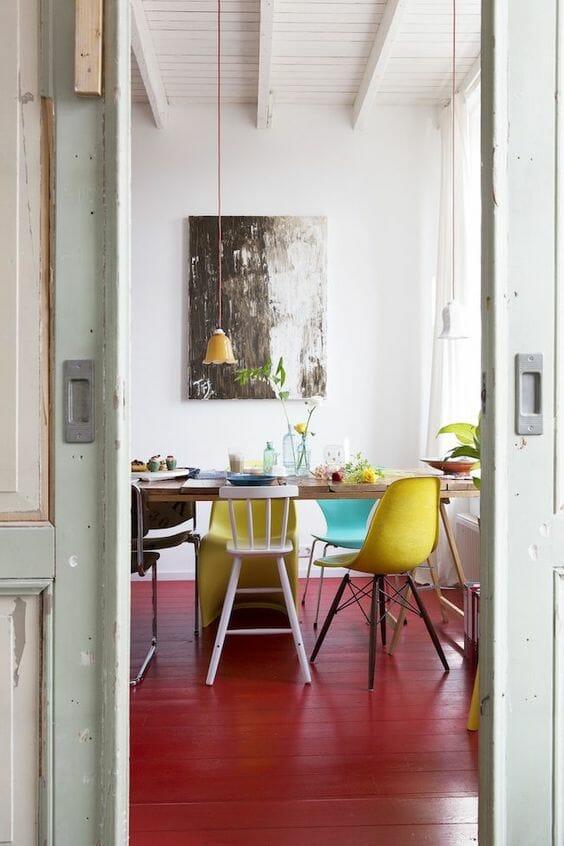 jadalnia vintage kuchnia w stylu skandynawskim