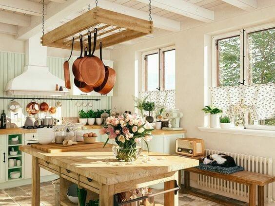 styl toskański kuchnia postarzane dodatki