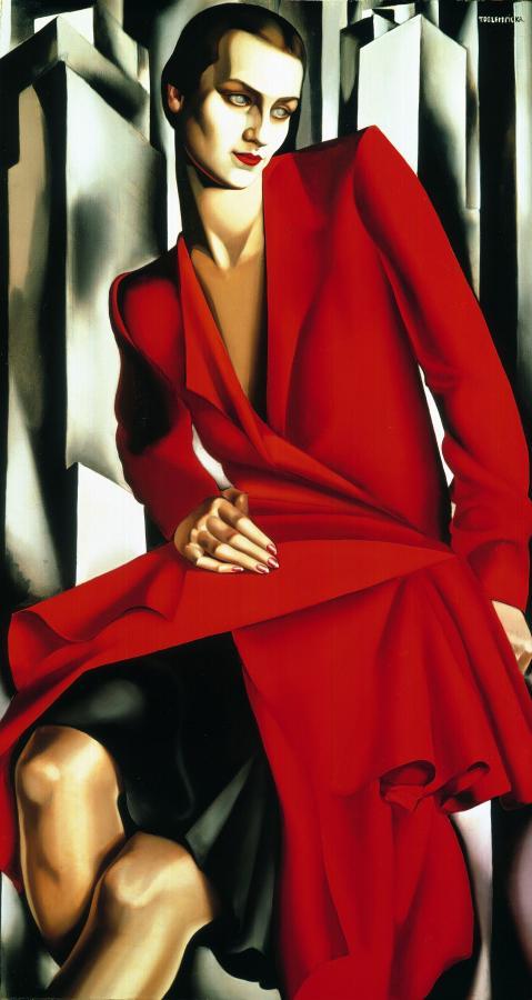 "Tamara Łempicka ""Portrait de Mrs. Bush"""