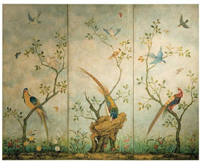 parawan z orientalną grafiką