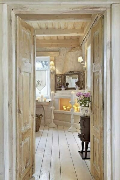 toskania sypialnia postarzane drewno
