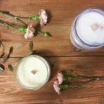 pachnące świece sojowe w słoiku