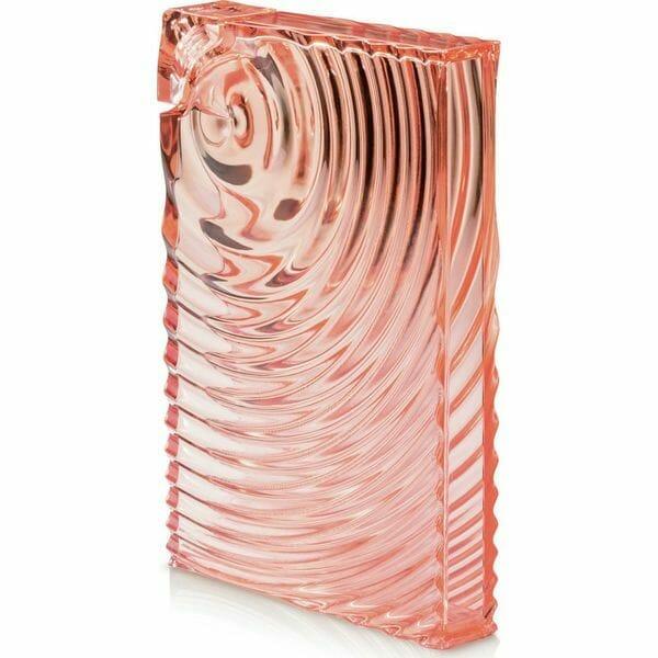 butelka wielokrotngo użytku w kolorze różowym w kształcie prostokąta