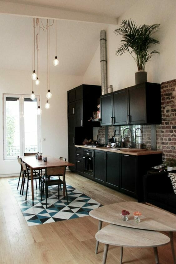 kuchnia czarna żarówki led - oszczędność energii