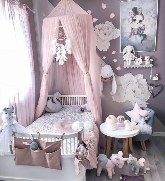 moskitiera nad łóżko dla dziecka