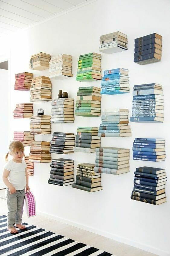 półka na książki z książki domowa biblioteczka