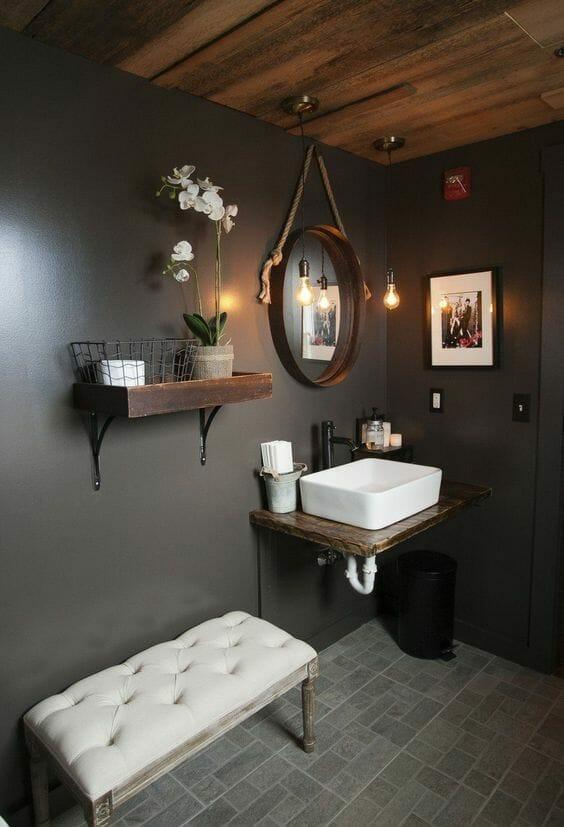 Jak urządzić czarną ,drewnianą łazienkę