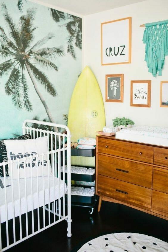 pokój dla niemowlaka surfer kid