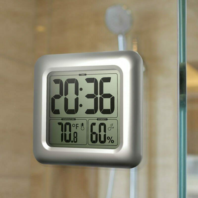 zegar prysznicowy na przyssawki oszczędność wody