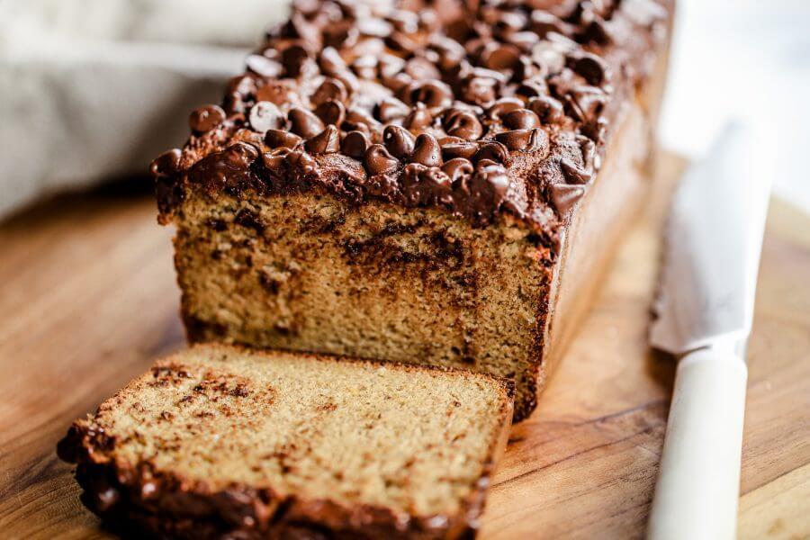chleb bananowy z czekoladą