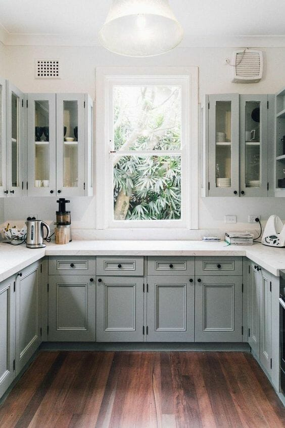 panele podłogowe do kuchnikolor sage green