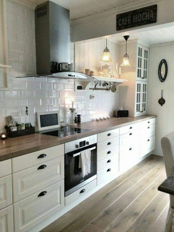 kuchnia w stylu prowansalskim panele podłogowe