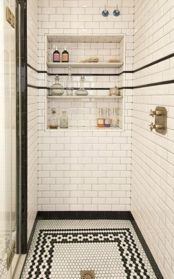 mozaika vintage w łazience