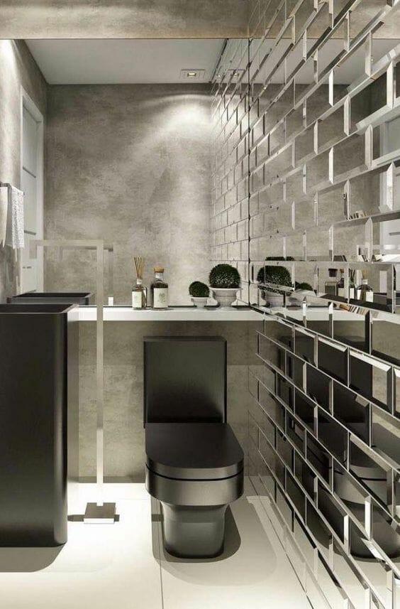 lustrzane płytki do łazienki