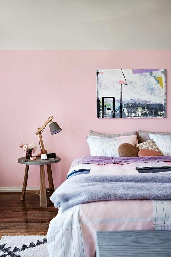 różowa sypialnia trendy inspiracje aranżacje