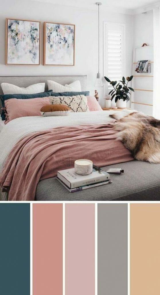 aranżacje sypialni kolory do sypialni