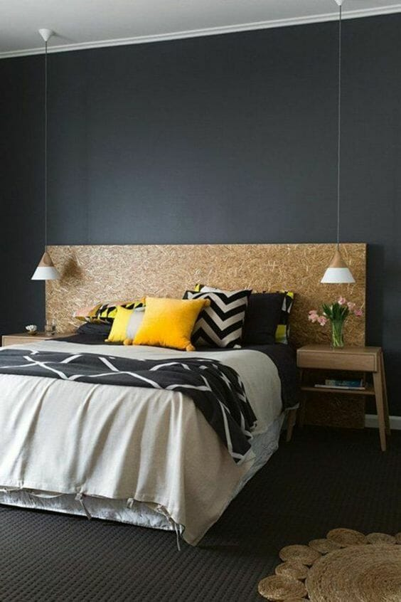 Styl industrialny sypialnia