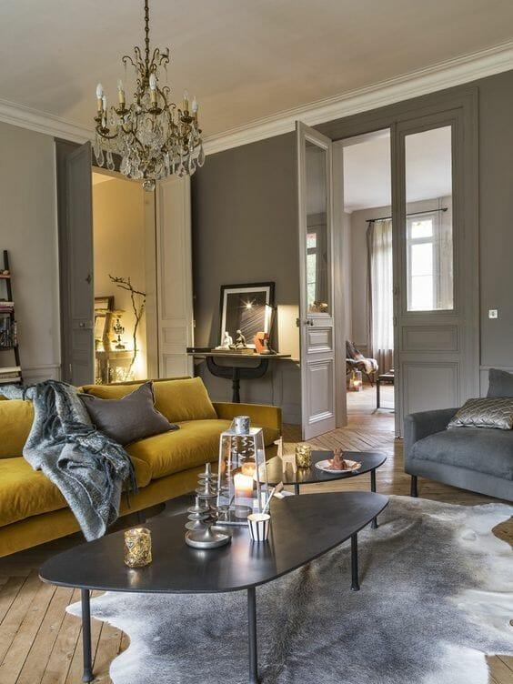 lampy do salonu klasycznego i szarego