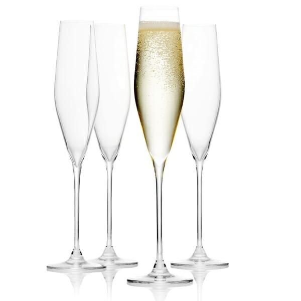 Rodzaje kieliszków do szampana