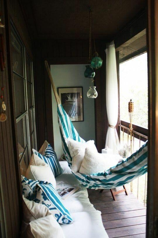 hamak brazylijski na balkon