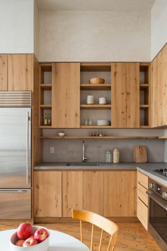 modna kuchnia drewniana