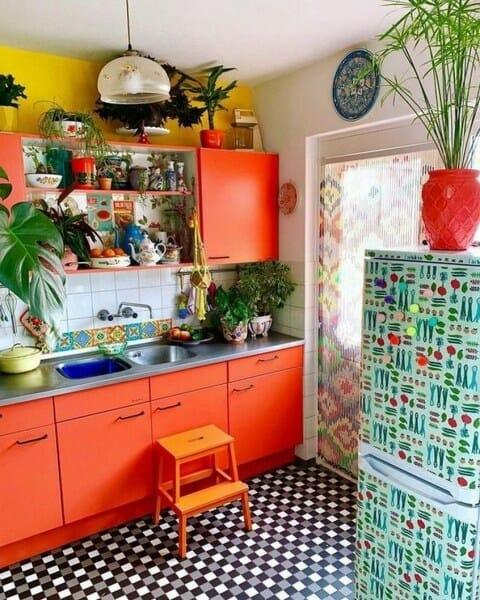 kolorowa modna kuchnia inspiracje rośliny w kuchni