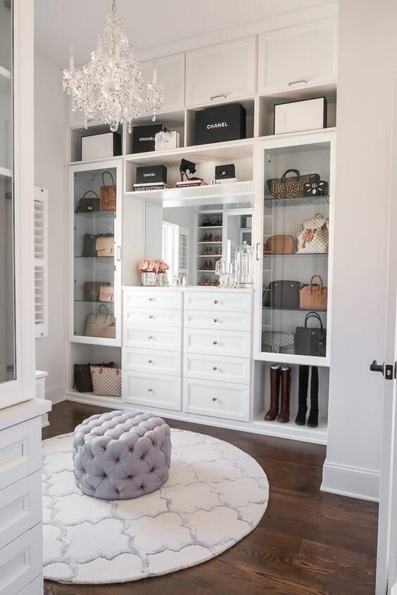 garderoba w stylu klasycznym