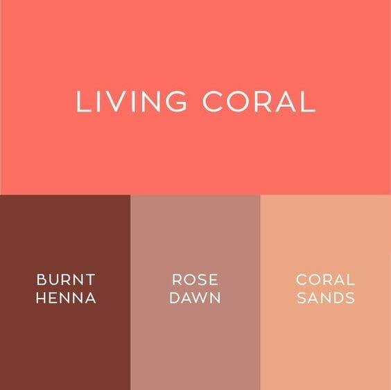 z czym łączyć kolor koralowy?