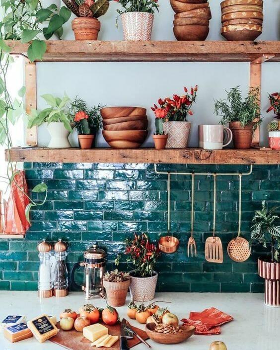 kuchnia boho płytki ceramiczne