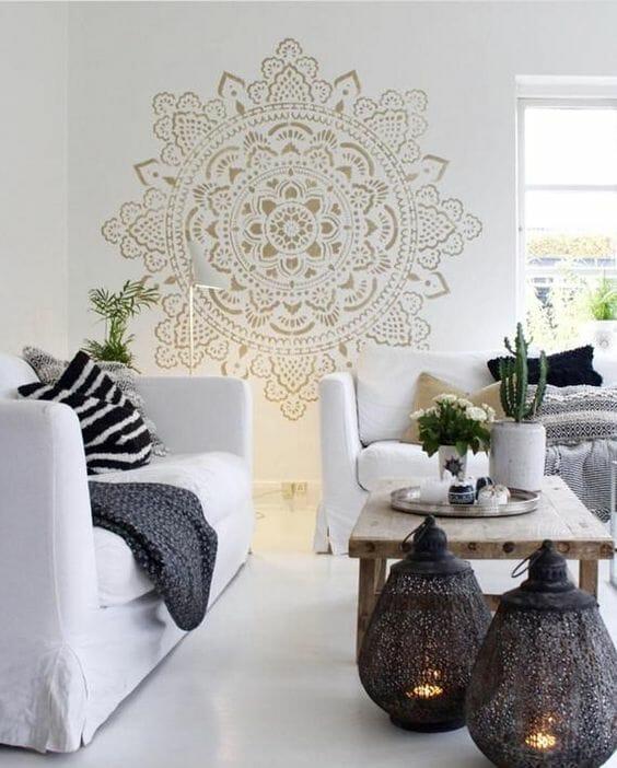 styl marokański lampiony salon jak urządzić wnętrze