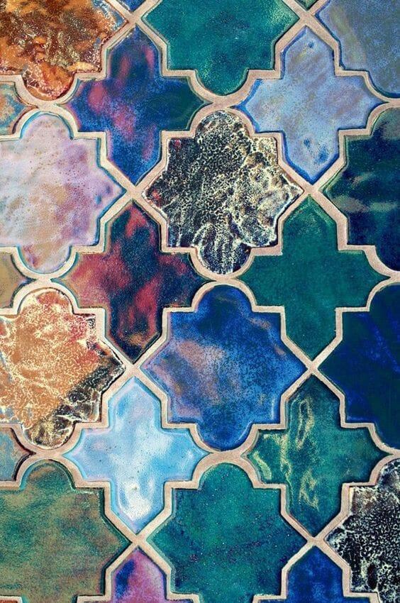 kolorowa mozaika ceramiczna