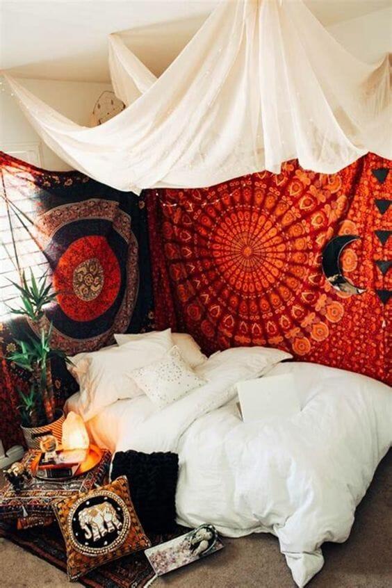styl marokański sypialnia