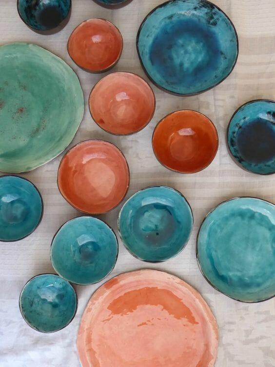 styl marokański ceramiczna kolorowa zastawa
