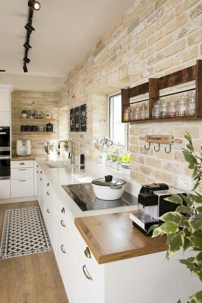 cegła ozdobna w kuchni