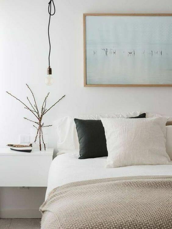 lniane tekstylia i dodatki do sypialni skandynawskiej