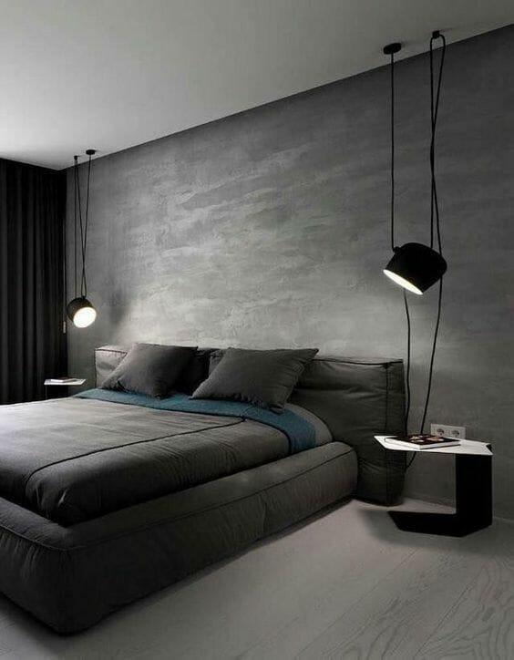modernistyczna sypialnia w stylu skandynawskim