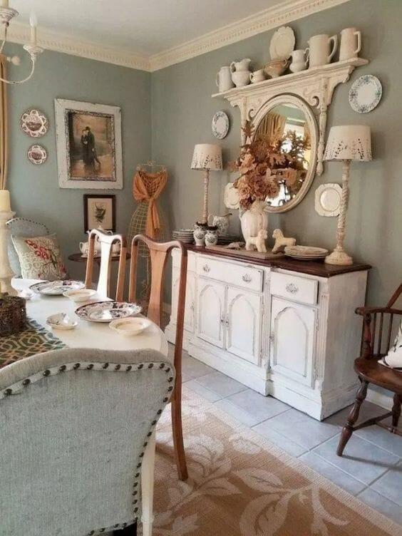 aranżacja salonu w stylu rustykalnym