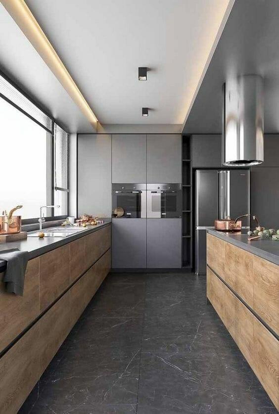 jak zaprojektować kuchnię na wymiar z betonem