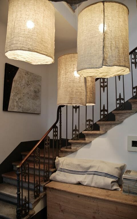 materiałowe lampy