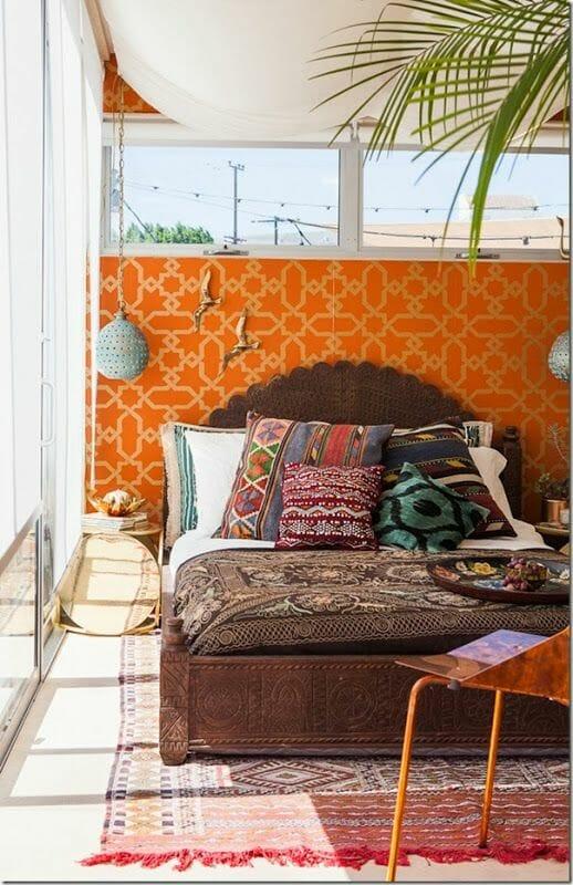 sypialnia egzotyczna jak urządzić