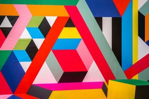 kolorowa sztuka współczesna