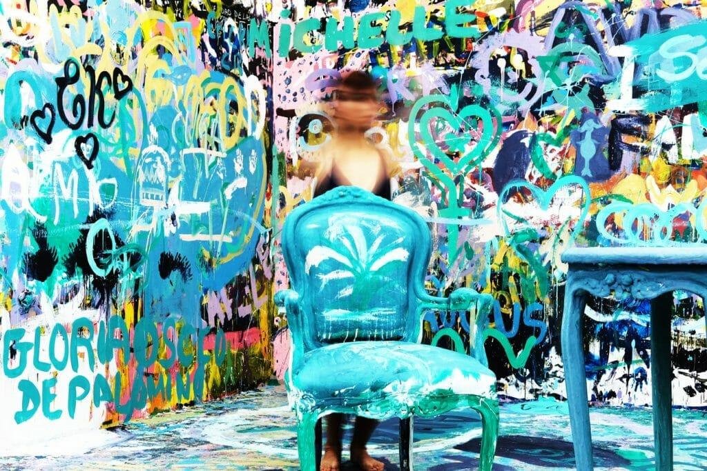grafitti na ścianie