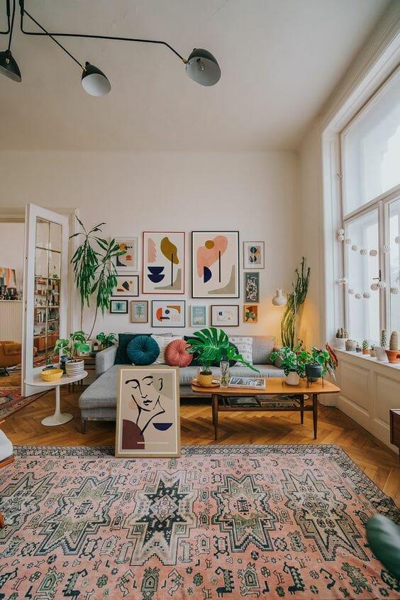 dywan turecki w salonie