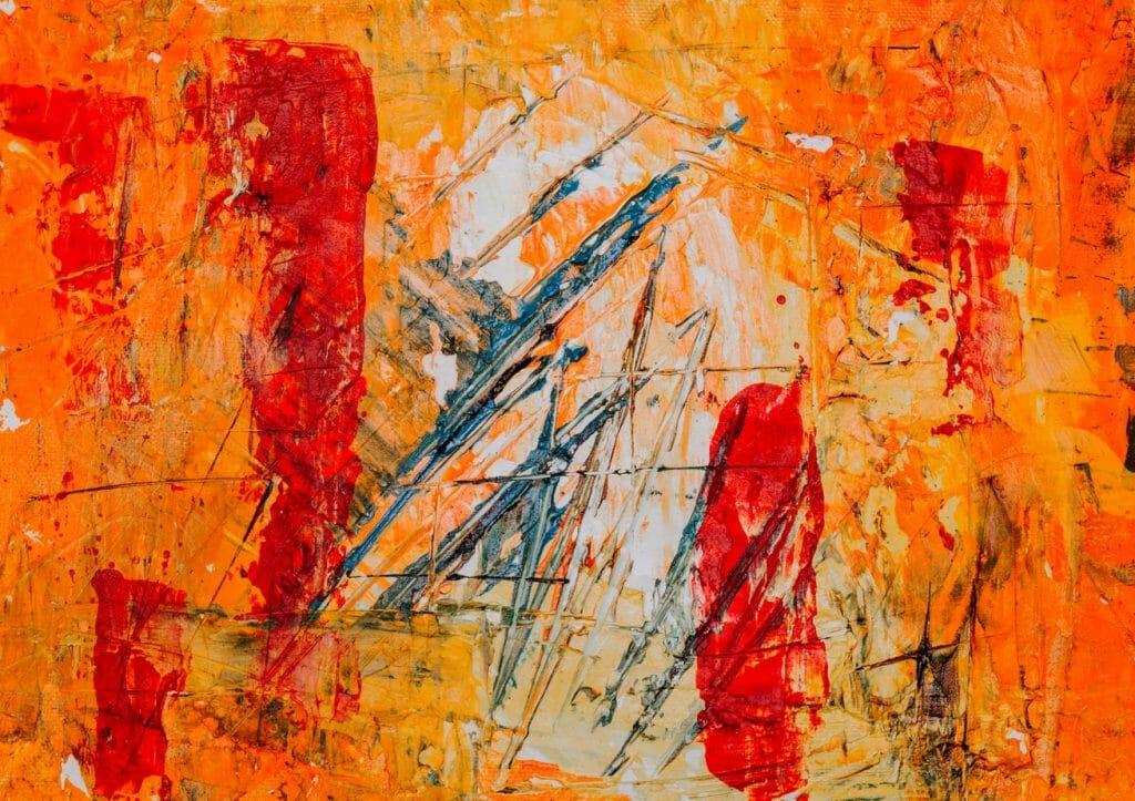 abstrakcja pomarańcz sztuka nowoczesna