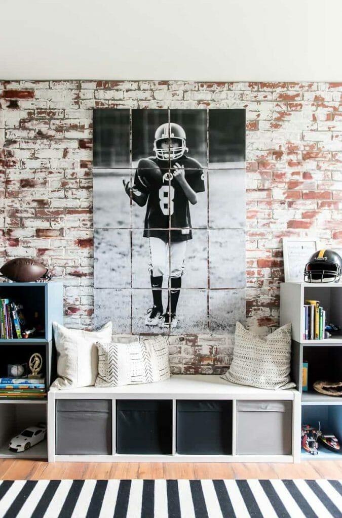 kolaż ze zdjęć w pokoju